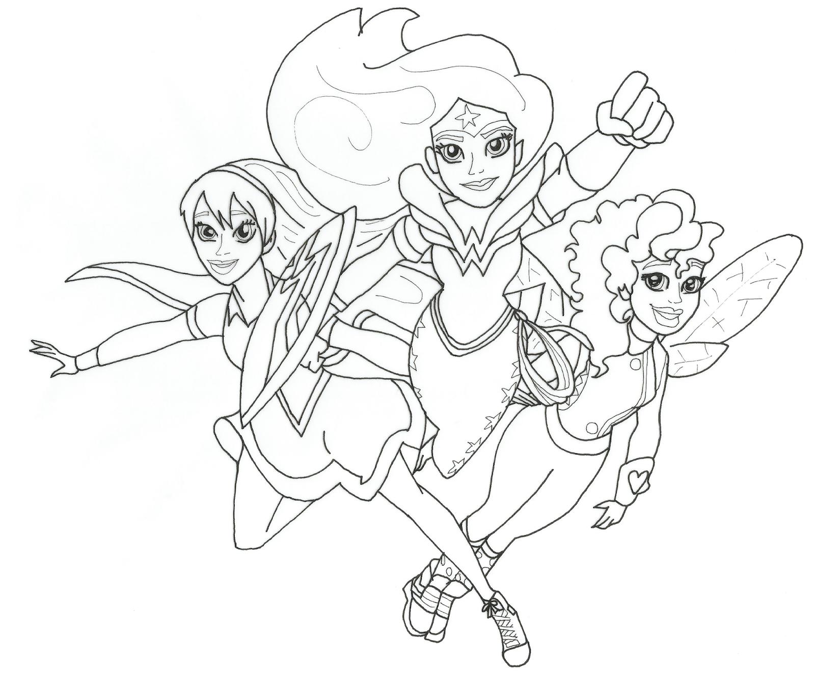 Bibi Leitura : Desenhos Para Colorir DC Super Hero Girls