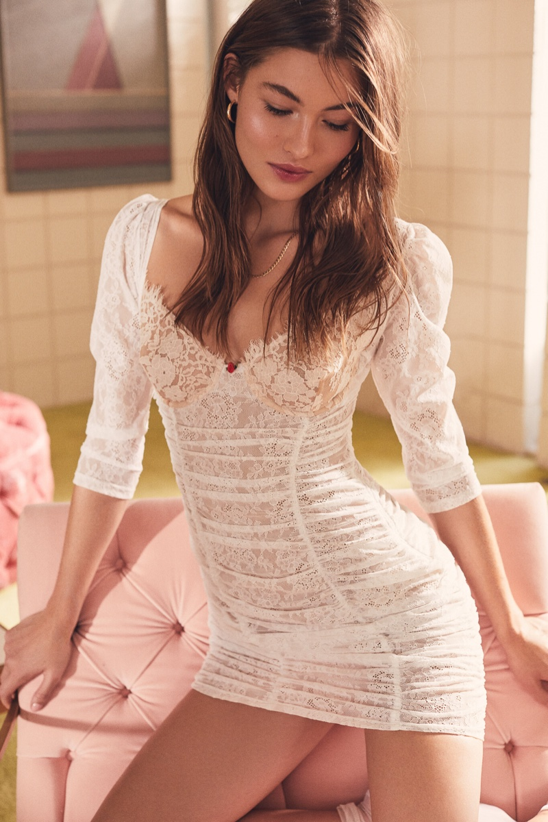 For Love & Lemons x Victoria's Secret Harlow Slip Dress