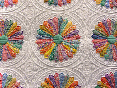 quilt, Inspired by Alice, Marilyn Lidstom Larson, detail of applique