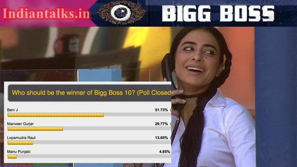 Bani J wins Salman Khan's Bigg Boss 10 Controversial Reality Show