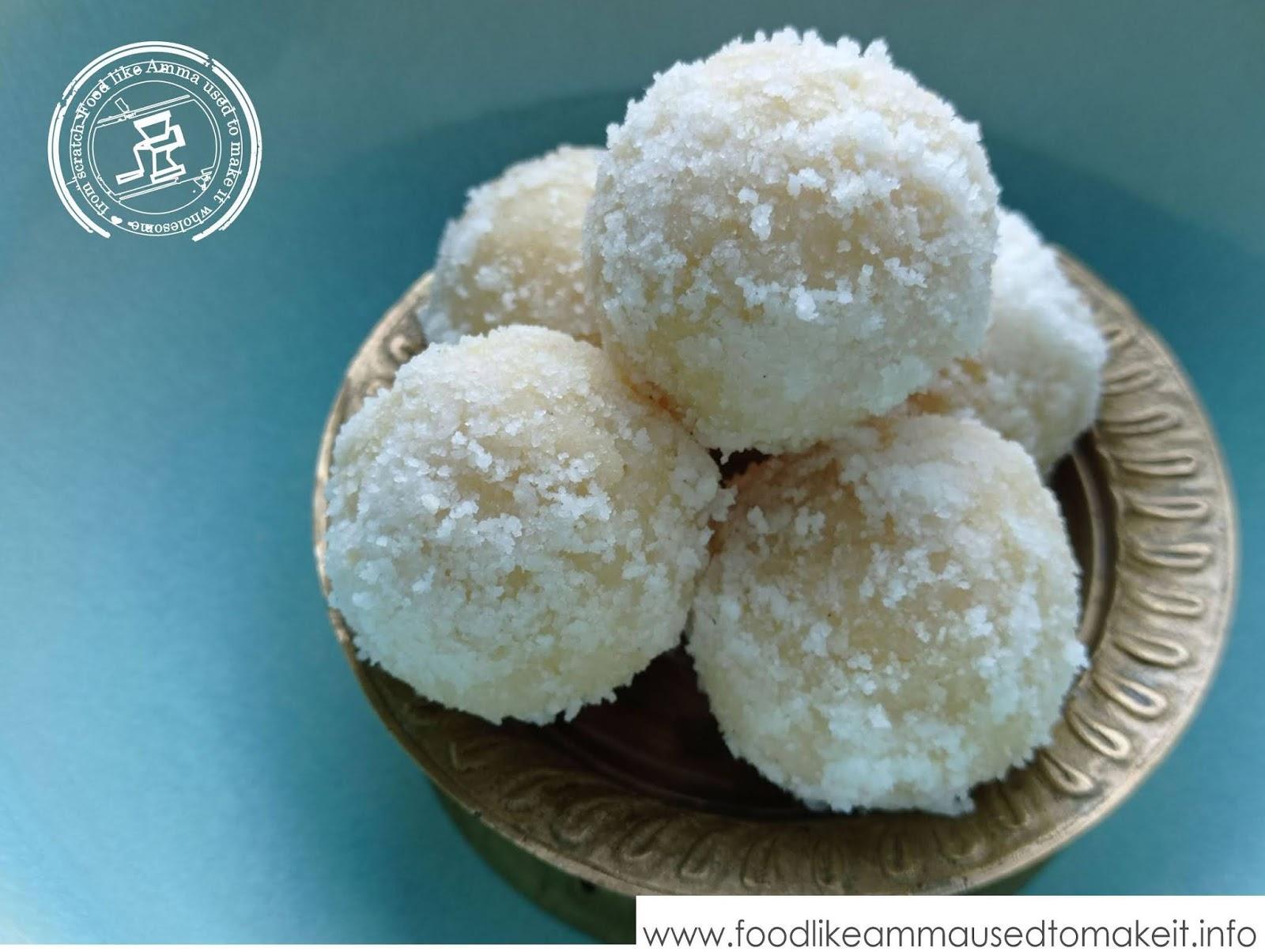 Coconut Soji Balls Recipe