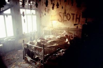 """Escena de uno de los crímenes de """"Seven"""""""