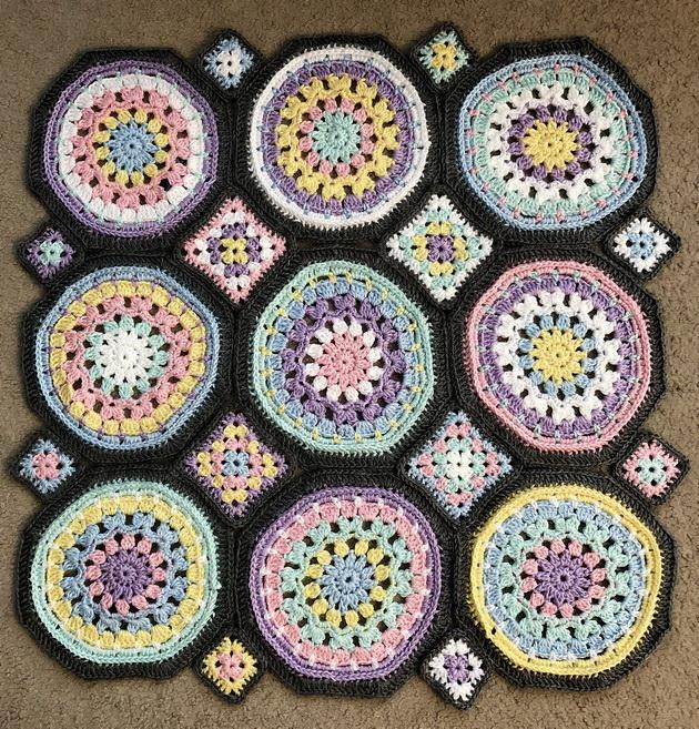 Crochet Pattern Of Beautiful Granny Octagon And Square Motifs