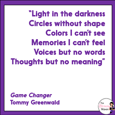 Game Changer by Tommy Greenwald is told in a variety of formats as it reveals what really happened to Teddy out on the football practice field. The suspense of not knowing who is to be trusted and the unexpected turns in the plot make this a quick and engaging read. Read on for more of my review and ideas for classroom application.