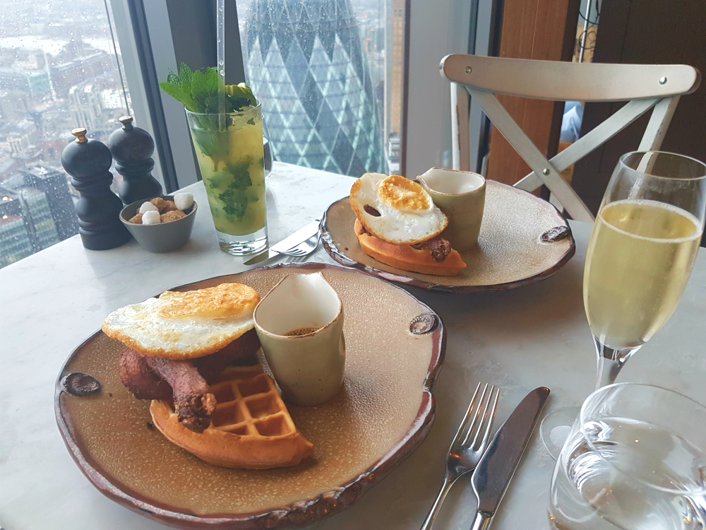 Duck and waffle food photo