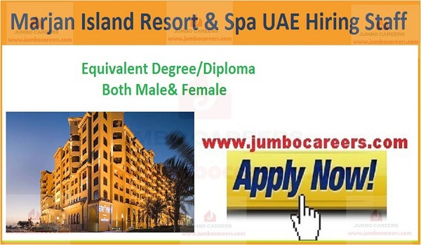Available hotel job vacancies in UAE,