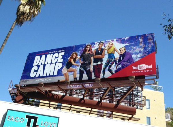 Dance Camp YouTube Red movie billboard