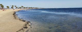 El Mar Menor desde San Pedro del Pinatar.