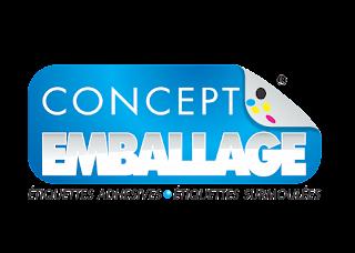 Concept emballage Logo Vector