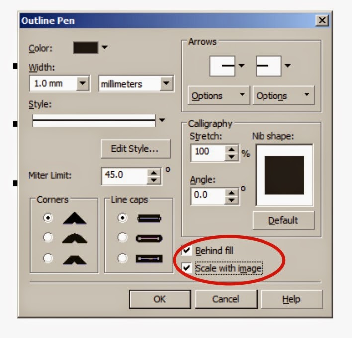 Tips for the Outline Thickness Will Always Follow Scale on Corel Draw