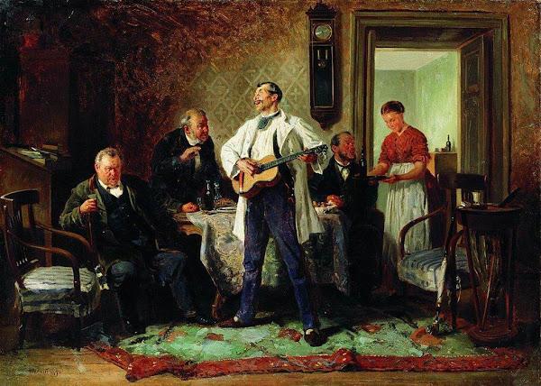 Маковский Владимир Егорович - Друзья-приятели. 1878