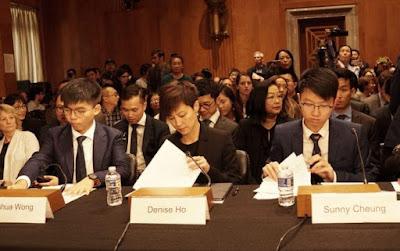 Joshua Wong điều trần trước Quốc Hội Mỹ: 'Nguyện vinh quang quy Hương Cảng'