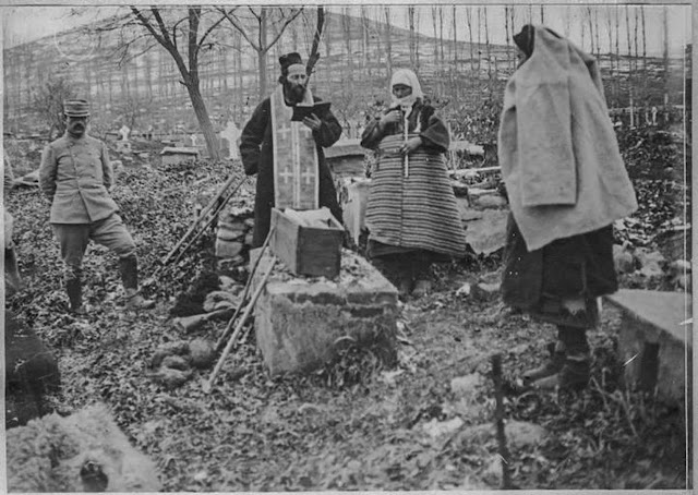 Burial of a girl killed during the bombing - Bitola, January 1917
