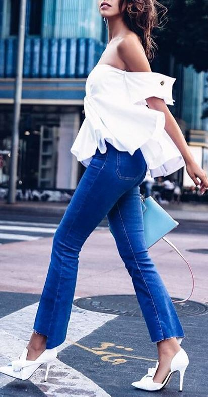 casual style obsession: top + jeans + bag