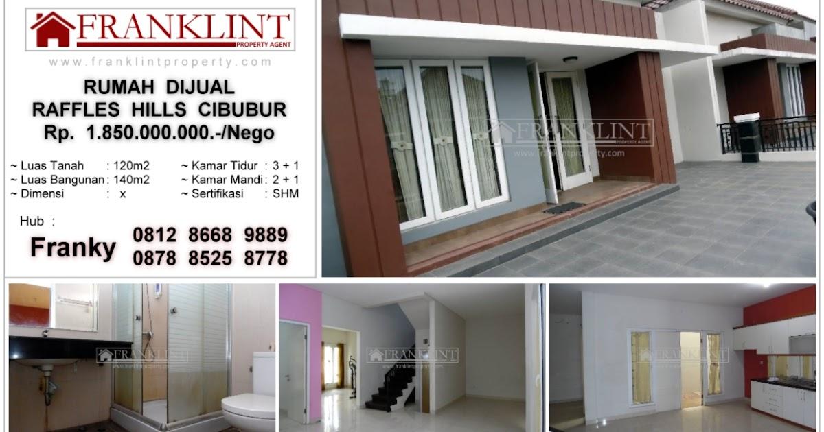 Dijual Rumah Minimalis Kawasan Elit Raffles Hills Cibubur