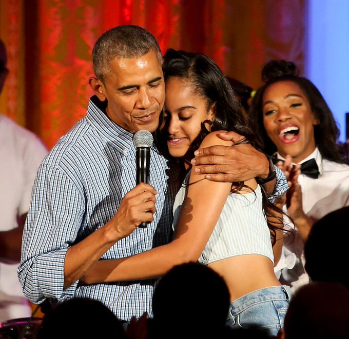 Barack Obama admits he cried after dropping daughter Malia off at Harvard