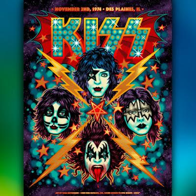 """KISS """"November 2, 1974 - Des Plaines, IL"""" Screen Print by Tara McPherson x ECHO"""