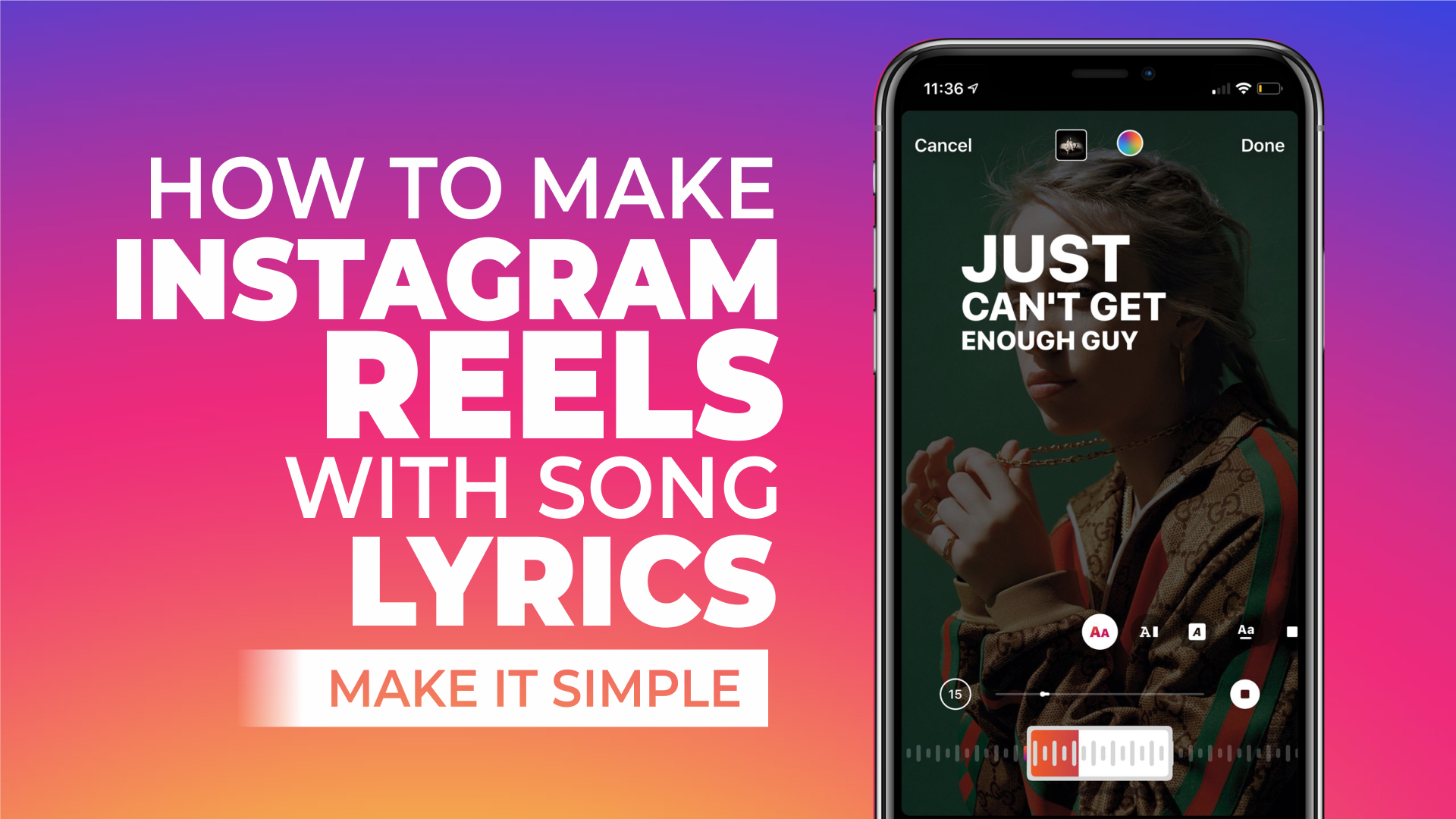 how to make reels with lyrics on instagram