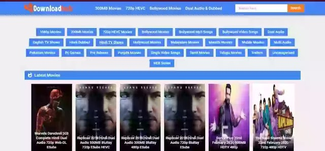DownloadHub 2020 - 300MB Dual Audio Bollywood Tamil Movies Download