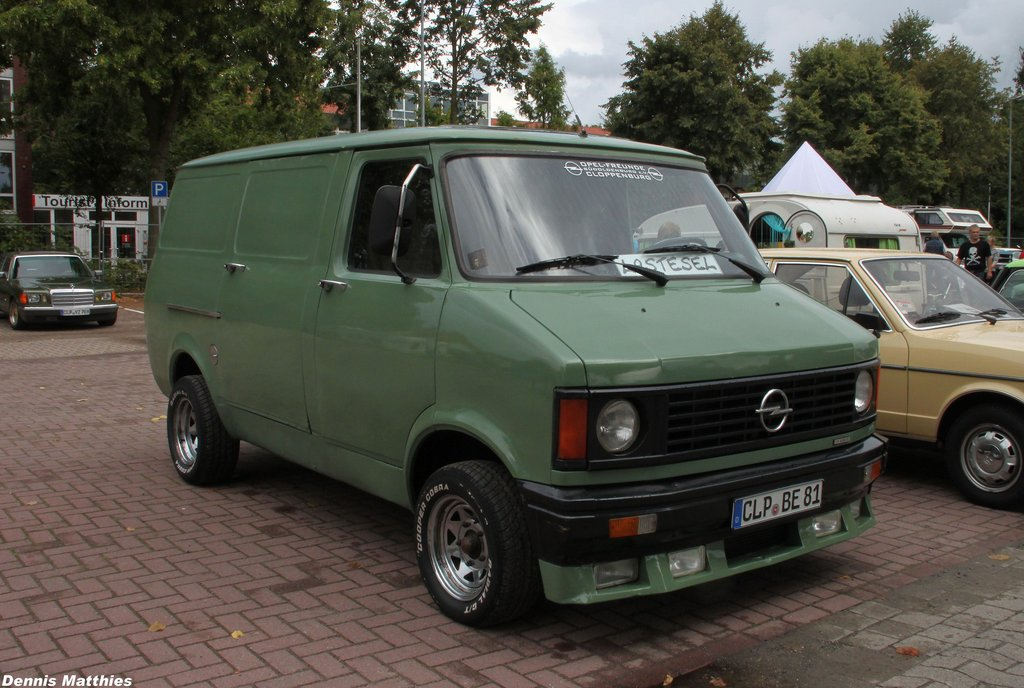920fb0a8fe This Opel Bedford Blitz was spotted at the Oldtimertreffen Cloppenburg in  Germany. It has some custom touches like the front spoiler
