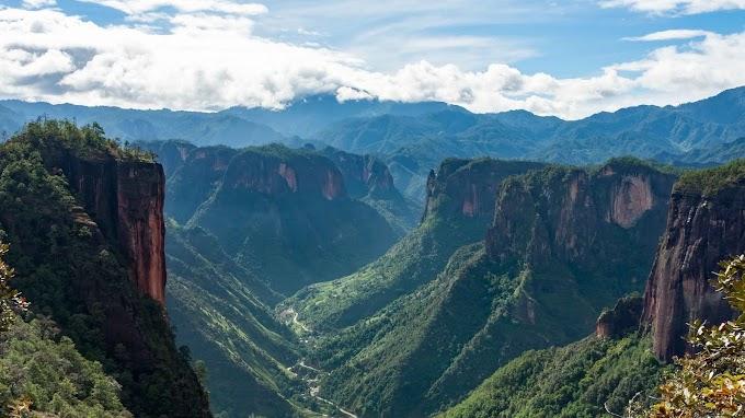 Papel de Parede hd Paisagem Canyon Verde