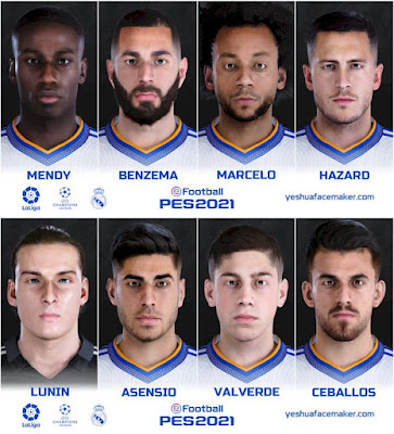 PES 2021 Real Madrid FacePack by Yeshua