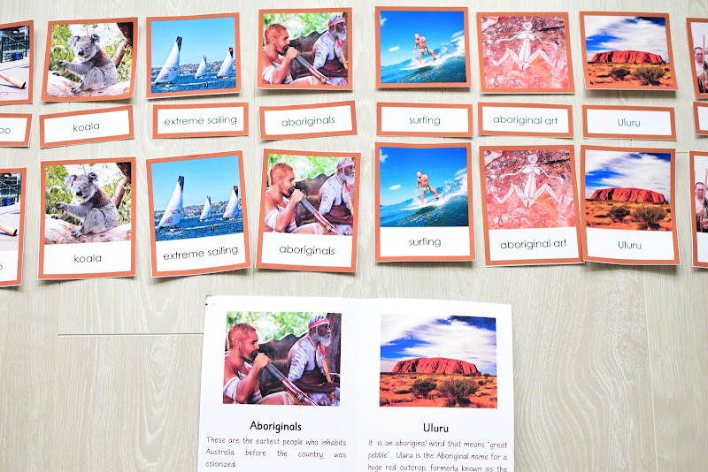 Oceania CONTINENT Study: 3 PART CARDS