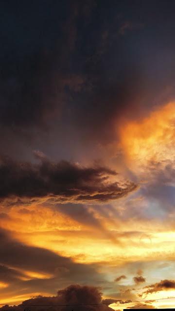 IPhone Sunset Sky Clouds Nature Wallpaper
