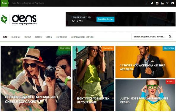 Download Free Dens Premium Blogger Template