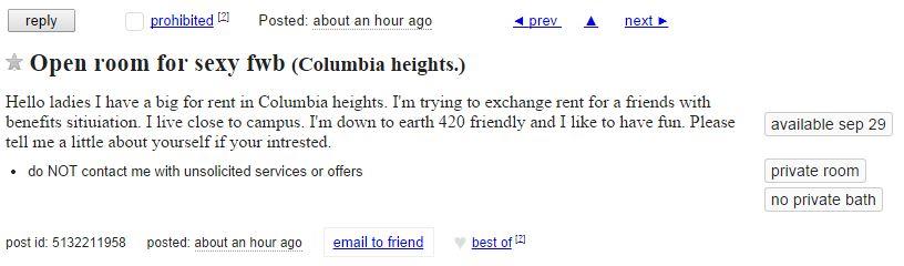 Columbia craigslist free