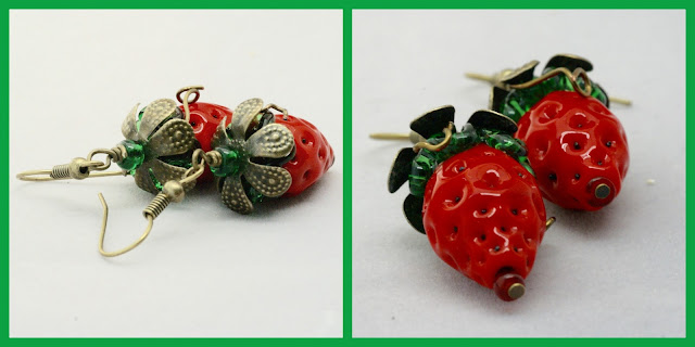 Strawberry earrings by BayMoonDesign