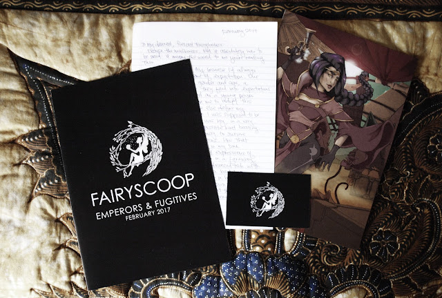 Fairyloot news, author letter, print, card
