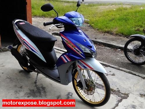 Variasi Motor Mio J Warna Biru Otomotif Modifikasi Indonesia