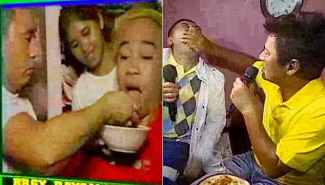 Jose is fed Wally using his hand. Then Bossing Vic whole heartedly feeds Jose using a spoon, then later on with his hands.