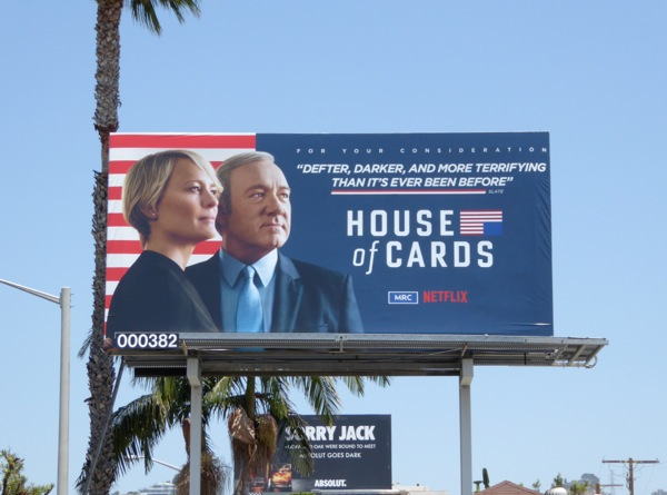 House of Cards 2016 Emmy consideration billboard