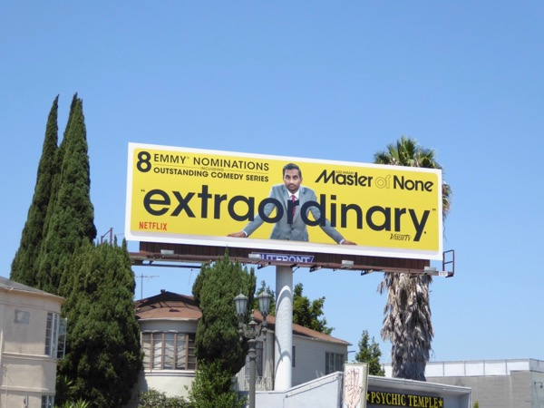 Master of None Extraordinary Emmy nominee billboard
