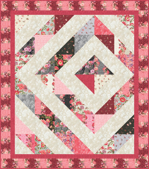 Solitaire Quilt Designed by Ariga Mahmoudlou for Robert Kaufman, Featuring Surrey Meadows