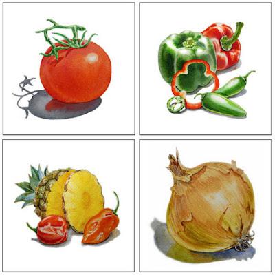 Bestselling painting of veggies watercolor by the artist Irina Sztukowski