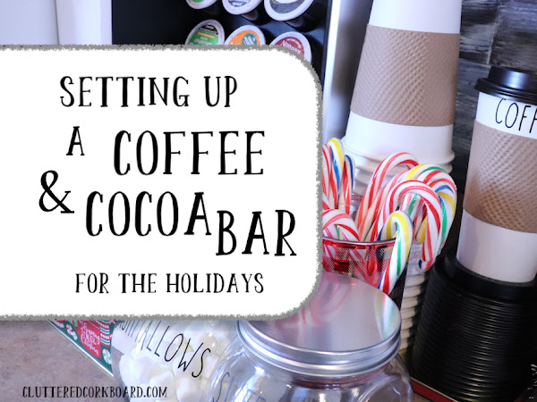 Setting up a Coffee and Hot Cocoa Bar