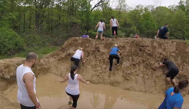 Warrior Dash obstacle - mud mounds