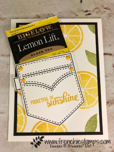 Pocketful of Sunshine, Lemon Zest, Stampin'Up!, Frenchiestamps,