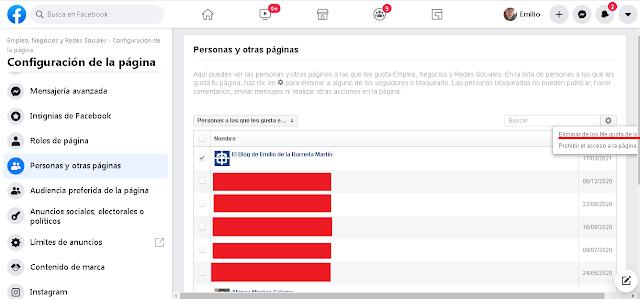 eliminar fans inactivos de nuestra página de facebook