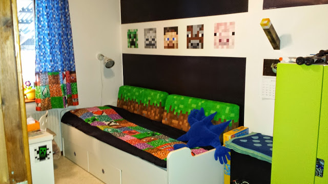 Children Minecraft Bedroom Design Theme