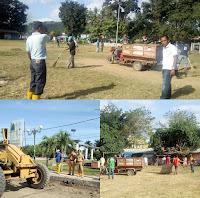 Persiapan Sholat Id, DLH Gelar Aksi Gotong Royong Bersihkan Lapangan Pahlawan