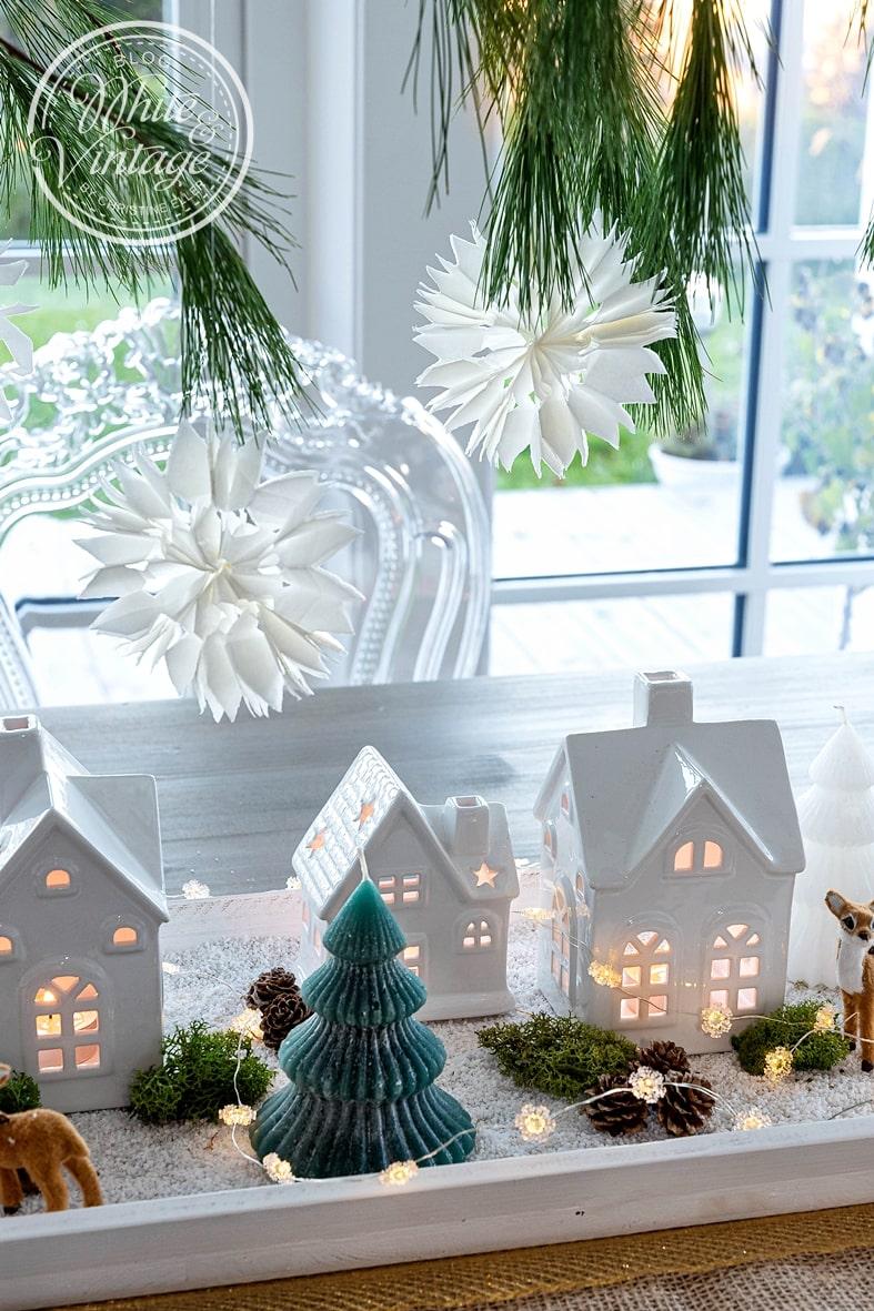 Weihnachtsdorf aus Lichthäusern