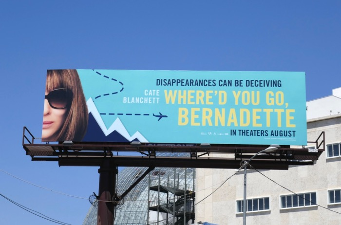 Whered You Go Bernadette movie billboard