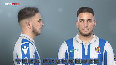 PES 2019 Faces Theo Hernández by Prince Hamiz