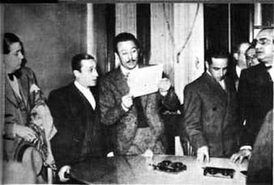 Charlo en compañía de Corsini, Julio De Caro, Ernesto Famá y Francisco Lomuto.