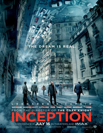 Poster Of Inception 2010 Hindi Dual Audio 650MB BRRip 720p ESubs HEVC Free Download Watch Online downloadhub.in