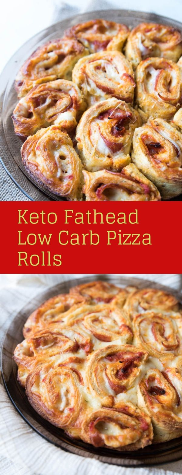 Keto Fathead Low Carb Pizza Rolls